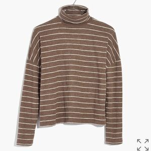 Madewell boxy turtleneck in stripe